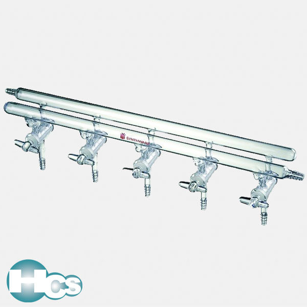 Synthware High vacuum manifold with glass stopcocks